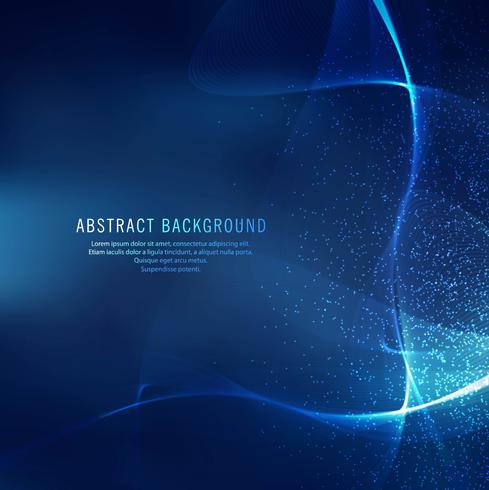 Abstract shiny blue wave background