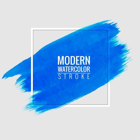 moderner blauer Aquarellstellenhintergrund