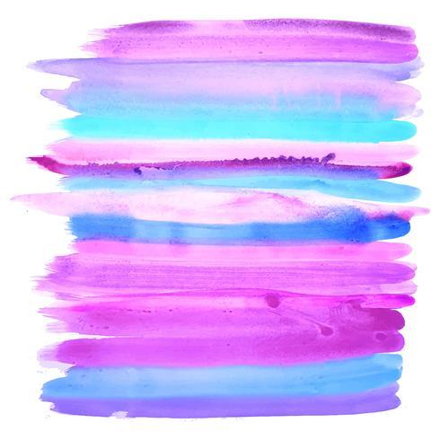 Colpi variopinti astratti dell'acquerello su fondo bianco