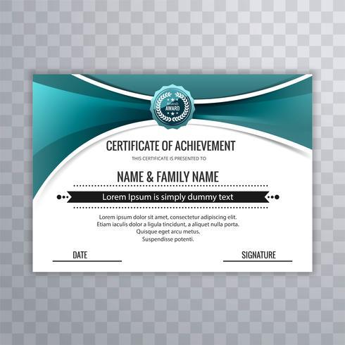 Il modello del certificato assegna il fondo del diploma con wav creativo
