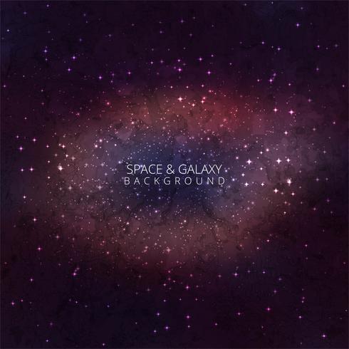 Galaxy Space Background con nebulosa, stardust e brillante splendente
