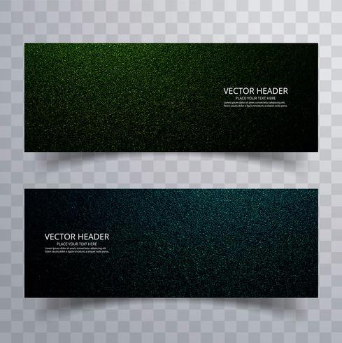 Banners abstractos conjunto vector de diseño de brillo