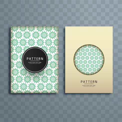 Ilustração de design de brochura padrão abstrato