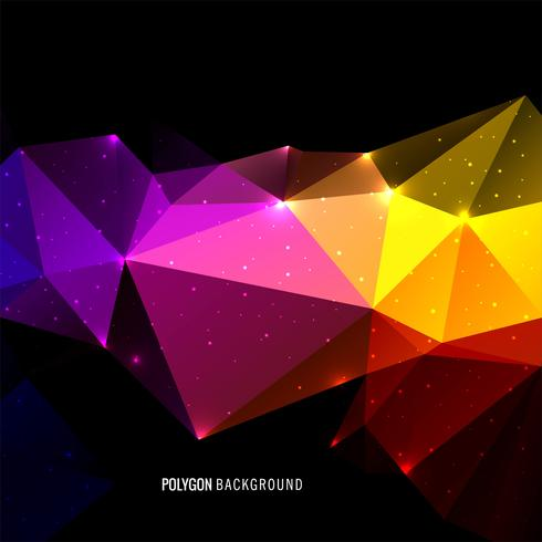 Abstrait de polygone de triangle coloré