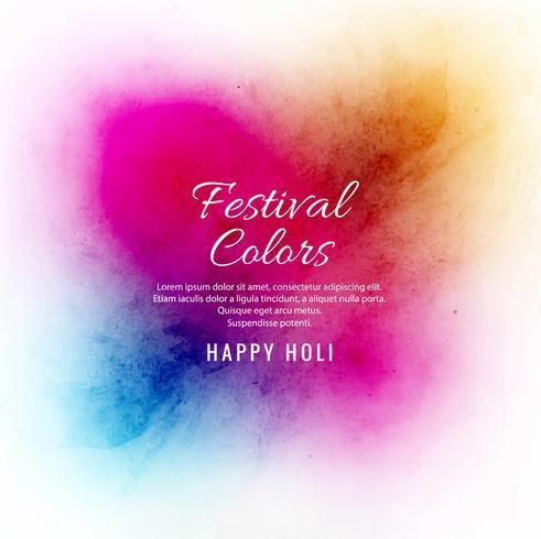 Happy holi colorful festival background