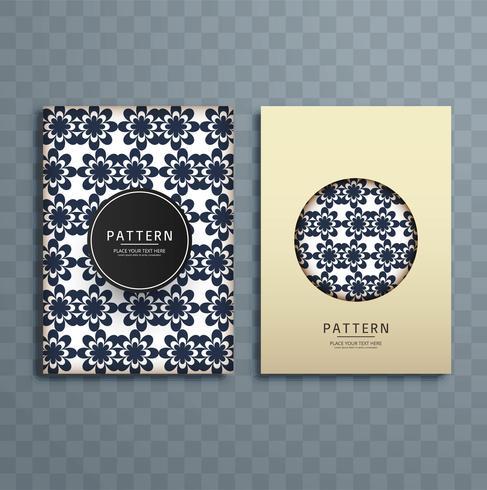 Abstracte creatieve bloemen het ontwerpillustratie van de patroonbrochure