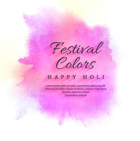 illustration de fond coloré Happy Holi abstrait