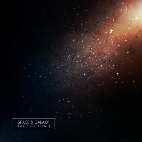 Glänzender bunter Raumhimmel-Nachthintergrund der Sterne und der Galaxie