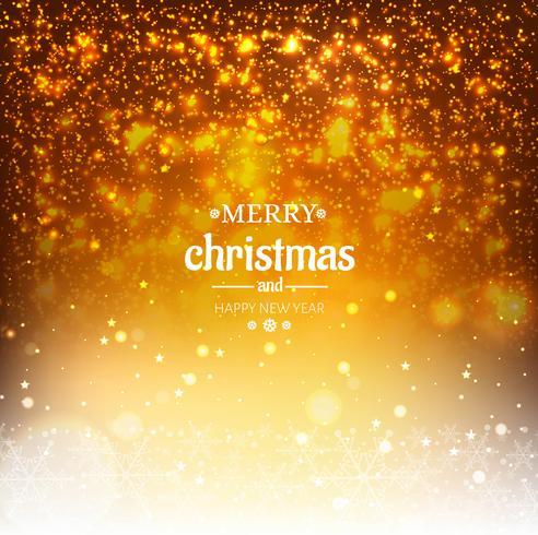 Fond de paillettes orange élégant de Noël avec des flocons de neige