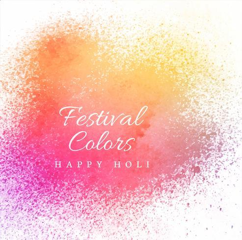 Gelukkige holi festival viering vector achtergrond