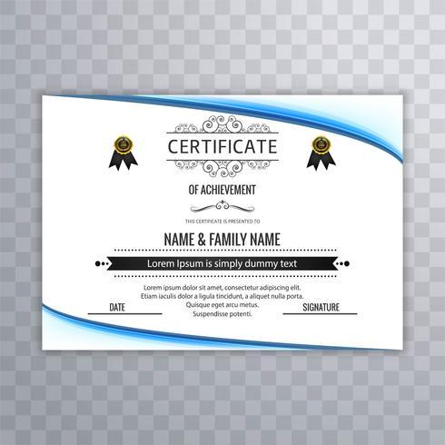 Fundo certificado moderno
