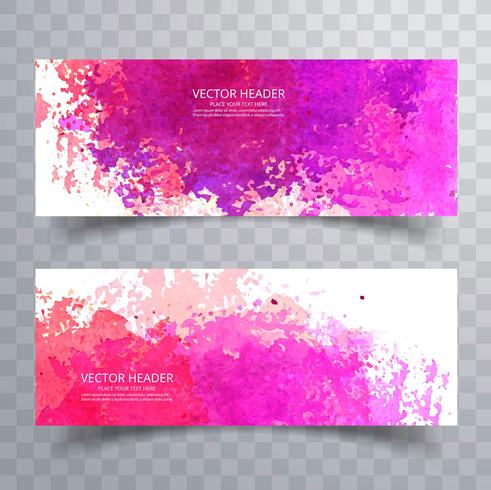 Abstraktes buntes Aquarelltiteldesign