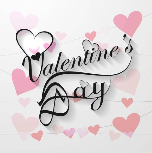Valentine's day calligraphy text background