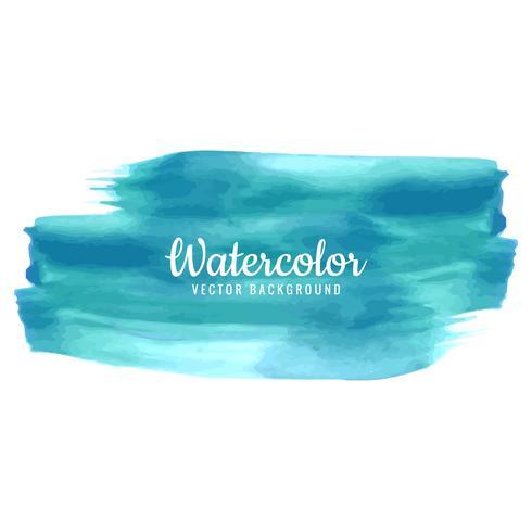 Abstract stroke watercolor design