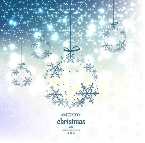 Élégant fond de paillettes bleu Noël avec des flocons de neige