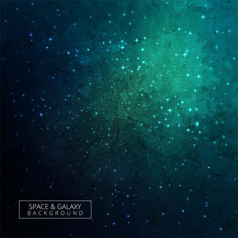 Stelle di un pianeta e galassia in uno sfondo di spazio libero