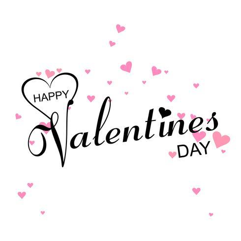 Modern valentins dag stilig text bakgrund