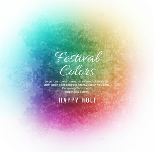 Happy Holi Festival de printemps indien de fond de couleurs