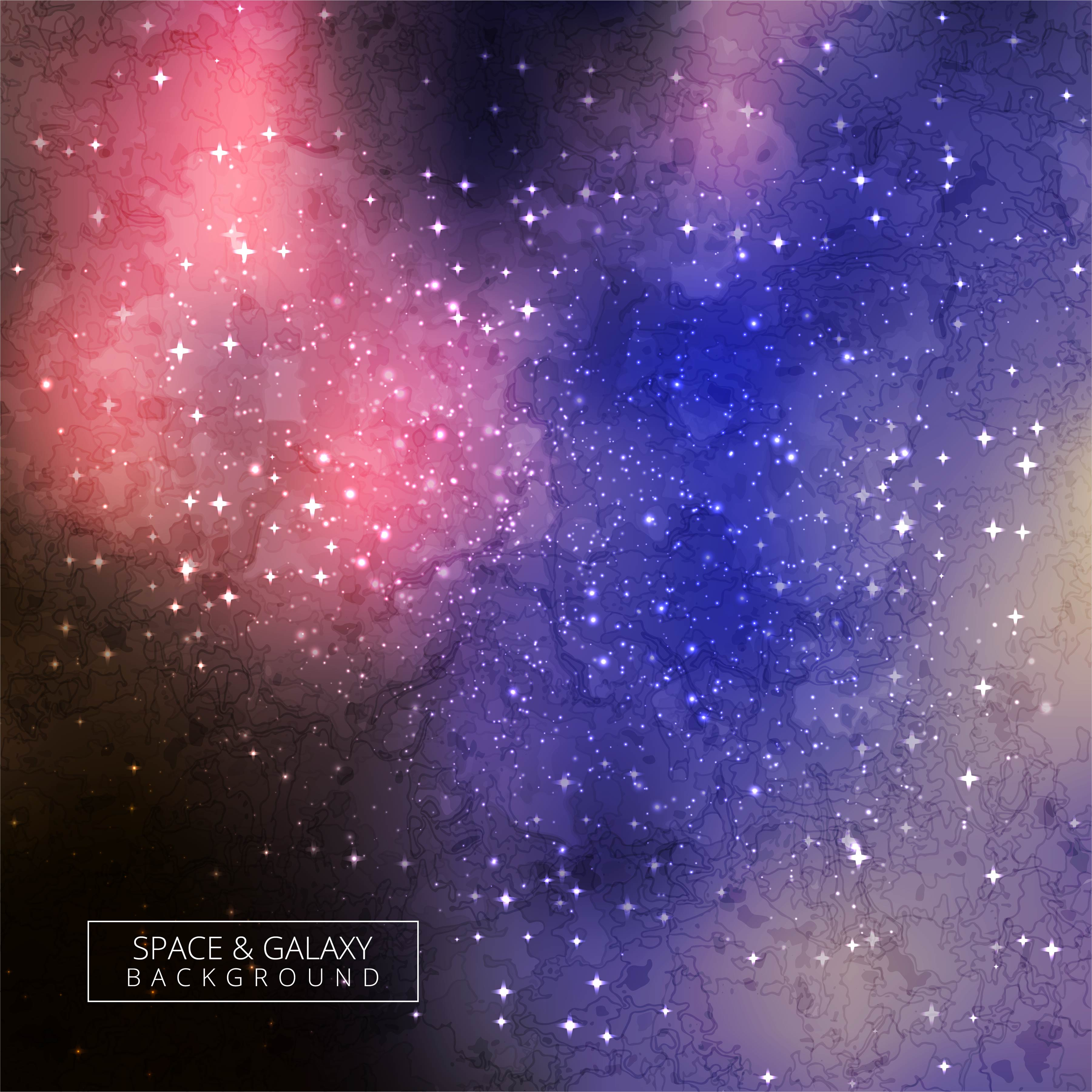 Abstract Cosmic Background With Stars Colorful Galaxy