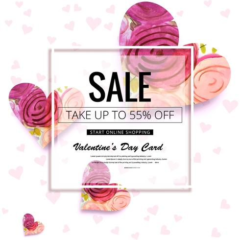 Beautiful valentine's day sale design background