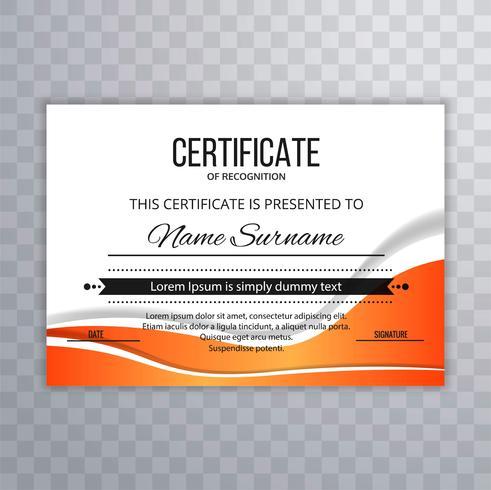 Certifikat Premium mall prisutmärkelse kreativ vågdesign