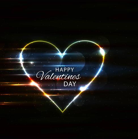 Glad hjärtans dag färgstarka glänsande hjärta bakgrund