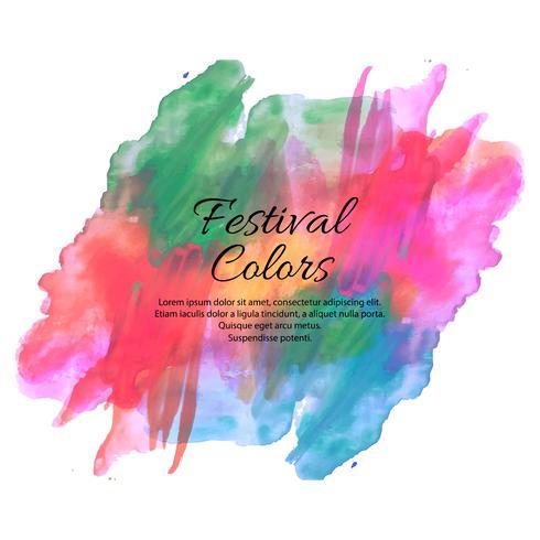 Holi spring festival of colors vector design