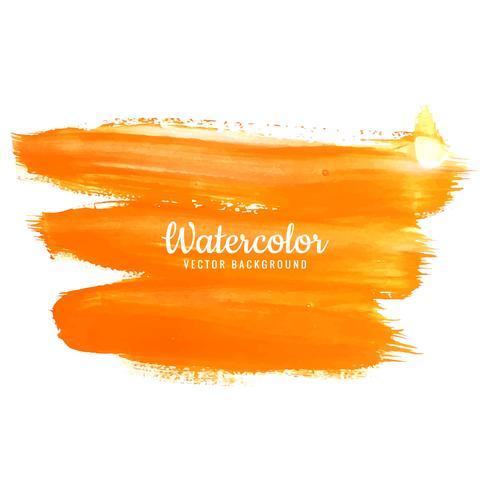 Aquarela laranja traços no fundo branco