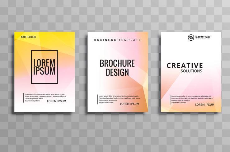 Brochura criativa polígono definir ilustração de design de folheto