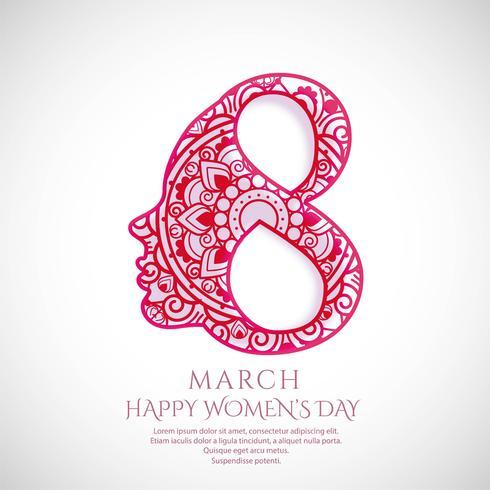 Ilustración de fondo de celebración de tarjeta de día feliz de la mujer