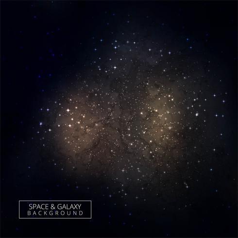 Kosmisk rymd mörk himmel bakgrund med färgstarka stjärnor design