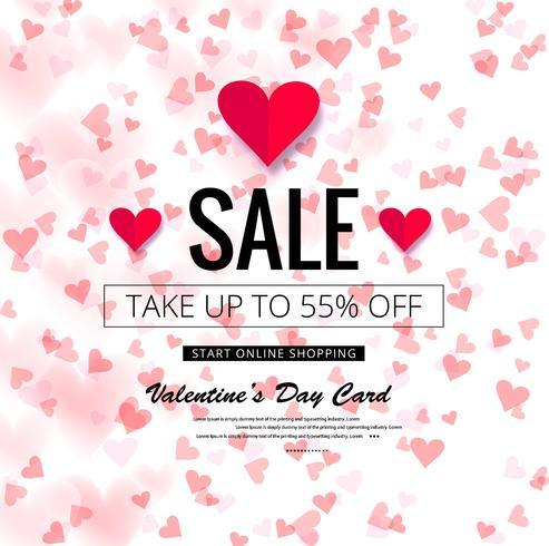 Modern valentins dag försäljning bakgrund illustration
