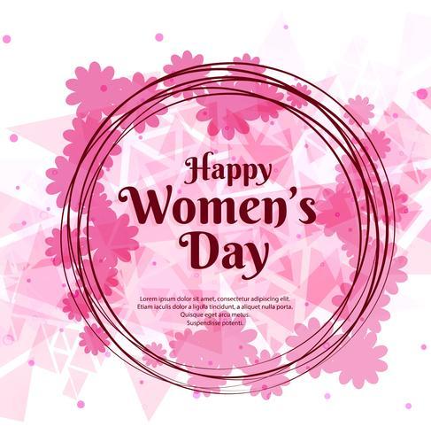 Happy Women's Day viering ontwerp