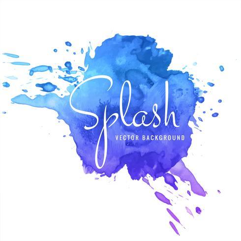 Vacker färgstark vattenfärg stroke stänk bakgrund