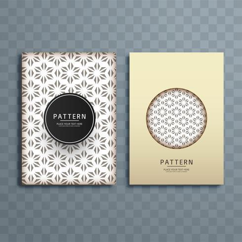 Design de brochura abstrata padrão