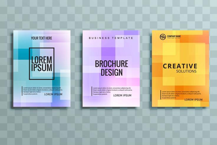 modern colorful business brochure set