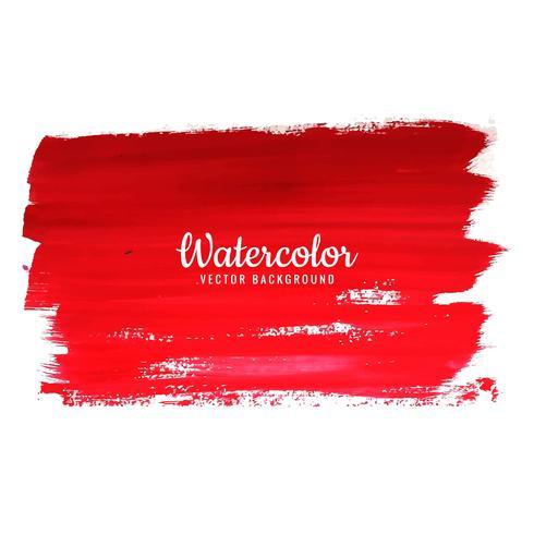 Abstrakt röd akvarell stänk design