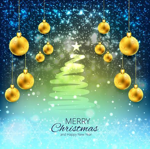 Colorful Christmas Background Design.Elegant Christmas Colorful Background With Balls Design
