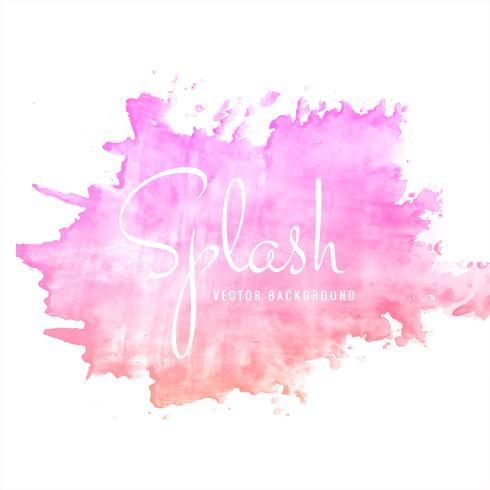 Vecteur d'arrière-plan splash aquarelle rose dessiné main moderne