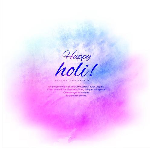 Glad Holi färgstark bakgrund med festival bakgrund