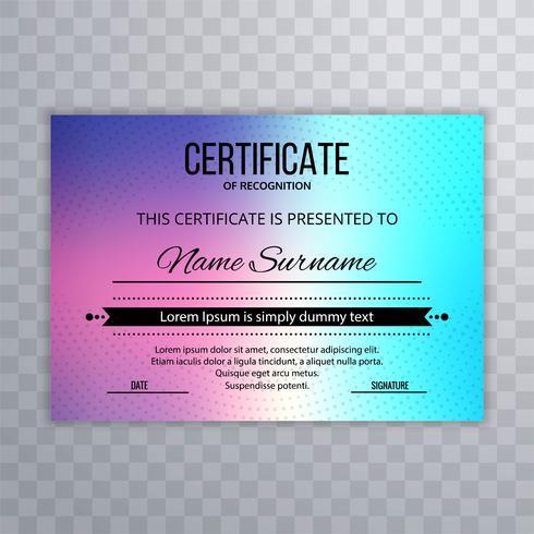 Certifikat mall lyx och diplom färgstark design