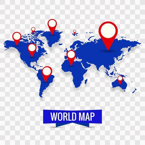 Modern världskarta bakgrund