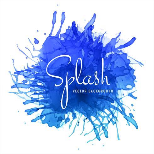 fond abstrait splash aquarelle bleu dessiné à la main