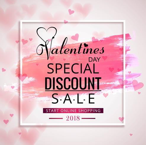 Valentines day sale beautiful background illustration