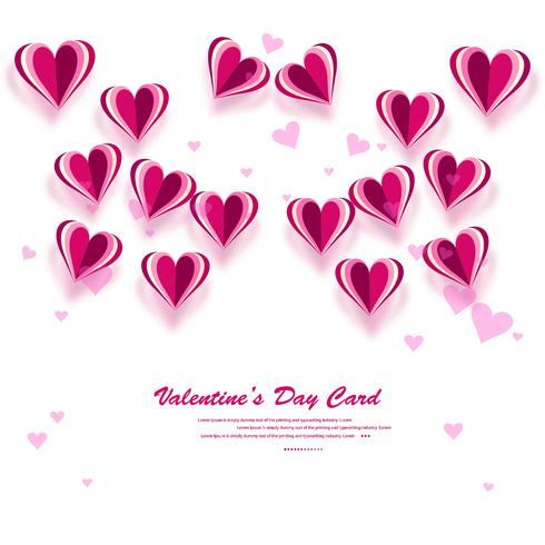 Valentines heart. Decorative heart background with lot of valent