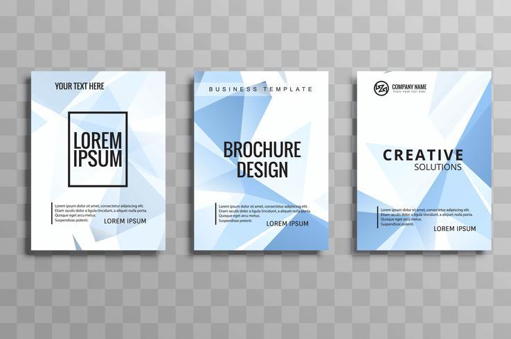Ensemble de brochure d'affaires moderne