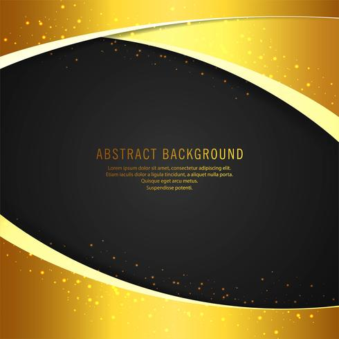 Abstrakt guldvåg bakgrund