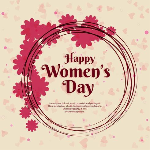 Fond de célébration de la fête des femmes heureux