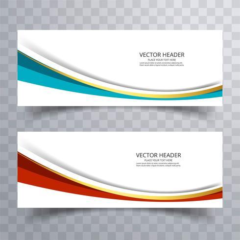 Progettazione di banner del sito Web con priorità bassa dell'onda