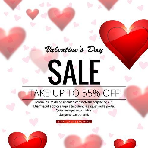 Modern valentine's day sale background illustration